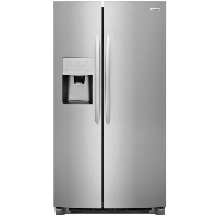 Frigidaire FGSS2335TF 22.2 cu. ft. Side by Side Refrigerator in Smudge-Proof - Stainless Steel - New w/Tiny Cosmetic Blemish