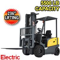 "Electric Forklift Truck 5500 Lbs. 236"" Lifting - FULL AC - FB25R"