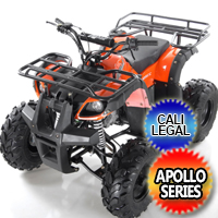 Focus 8 125cc Fully Automatic w/Reverse Sport ATV Four Wheeler - Focus 8