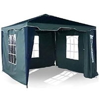 High Quality 10' x 10' White & Blue Garden Party Tent