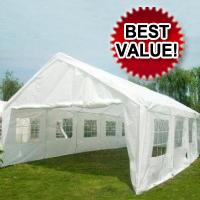 White 32' x 16' Heavy Duty Carport Shelter Party Tent