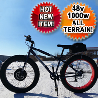 1000 Watt Fat Tire Bike Bicycle Electric 48 Volt