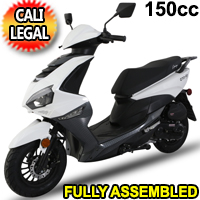 Znen 150cc 4 Stroke Gas Moped Scooter With USB Adapter - GTO-150
