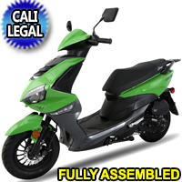 Znen 50cc 4 Stroke Gas Moped Scooter With USB Adapter - GTO-50