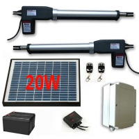 Solar Powered Gate Operator for Dual Swing Gates
