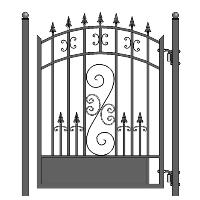 Venice Steel Pedestrian Garden Gate 5'
