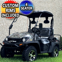 Brand New Gas Golf Cart UTV Hybrid Linhai Big Horn 200 GVX Side by Side UTV With Custom Rims/Tires - Camo