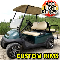 48v Electric Club Car Golf Cart With Custom Rims/Tires & Flip Seat