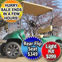 Green EZ-GO 36v Electric Golf Cart w/ Custom Rims & Tires