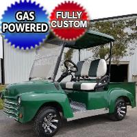 Green 47' Old Truck Custom Club Car Precedent Gas Golf Cart