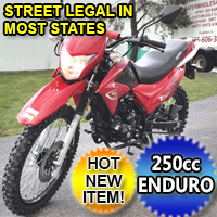 Hawk 250cc Enduro Dirt Bike 5 Speed Manual With Electric /  Kick Start