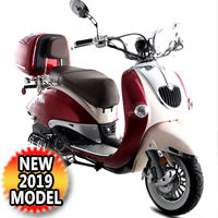 150cc Heritage 2 Tone 4 Stroke Moped Scooter - HERITAGE150 - 2 TONE