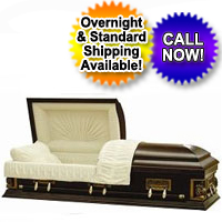 Peaceful Wooden Casket