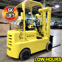 Hyster Forklift 6,000 Lift Cap. Heavy Duty Propane Forklift With 2660 Hrs. - 3 Stage Mast