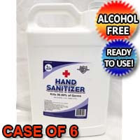 Platinum Shield 1 Gallon Hand Sanitizer Alcohol-Free Long-lasting Protection Kills 99.999% of Germs - Case Of 6