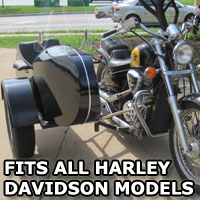 Euro RocketTeer Side Car Motorcycle Sidecar Kit - All Harley Davidson Models