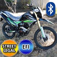 250cc Hawk Deluxe EFI Edition Dirt Bike 5 Speed Manual With Electric / Kick Start Street Legal - Hawk DLX 250 EFI