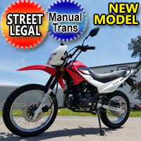 Hawk 3 - 250cc Enduro Dirt Bike 5 Speed Manual With Electric / Kick Start Remote Start / Alarm Street Legal - Model BS250GY-18B