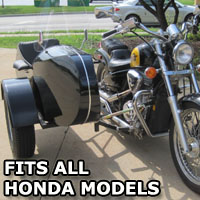 Euro RocketTeer Side Car Motorcycle Sidecar Kit - All Honda Models