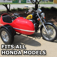 RocketTeer Side Car Motorcycle Sidecar Kit - All Honda Models