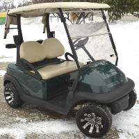 Club Car Precedent Electric 48v Golf Cart w/ Custom Rims & Tires