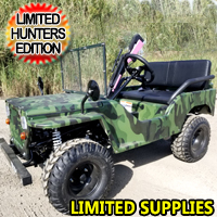 125cc Mini Hunting jeep Gas Golf Cart Utility Vehicle Semi Auto With Reverse