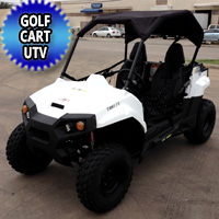 Brand New Gas Golf Cart UTV Hybrid 150cc Utility Vehicle Extended Challenger Version