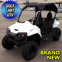 Brand New Gas Golf Cart UTV Hybrid 150cc Utility Vehicle Extended Challenger Version