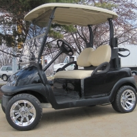48V Club Car Precedent w/ Chrome Rims - Jet Black