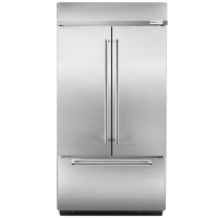 "KitchenAid KBFN402ESS Refrigerator 24.2 Cu. Ft. 42"" Built-In French Door Fridge - Stainless Steel (Scratch and Dent Model)"