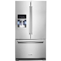 KitchenAid KRFF507HPS Refrigerator 27 cu. ft. French Door Fridge in PrintShield Stainless with Exterior Ice and Water (Scratch and Dent Model)