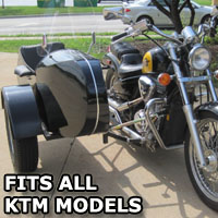 Euro RocketTeer Side Car Motorcycle Sidecar Kit - All KTM Models