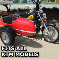 RocketTeer Side Car Motorcycle Sidecar Kit - All KTM Models