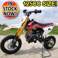 KXD 70cc Dirt Bike With Big 125cc Frame Size Pit Bike 4 Stroke Engine - Elec. Start