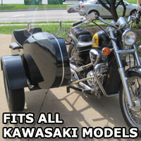 Euro RocketTeer Side Car Motorcycle Sidecar Kit - All Kawasaki Models