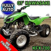 2007 Kawasaki KFX 700 Quad Atv Fully Auto With Reverse - Excellent Condition