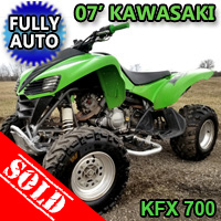 2007 Kawasaki KFX 700 Quad Atv Fully Auto With Reverse - Excellent Condition