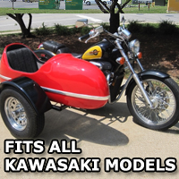 RocketTeer Side Car Motorcycle Sidecar Kit - All Kawasaki Models