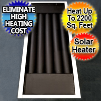 Kazoo Solar Air Heater Furnace Eco 20,000 BTU - Efficient Heat Solar Heater
