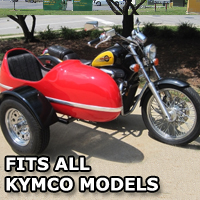 RocketTeer Side Car Motorcycle Sidecar Kit - All Kymco Models
