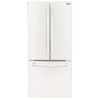 "LG LFCS22520W 22 cu. ft. Large Capacity 30"" Wide 3-Door French Door Refrigerator - White - New w/Tiny Cosmetic Blemish"