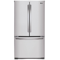 LG LFCS25426S 25 cu.ft. Mega Capacity 3-Door French Door Refrigerator Stainless Steel - New w/Tiny Cosmetic Blemish
