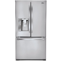 LG LFXC24726S 24 cu. ft. French Door Counter-Depth Refrigerator - New w/Tiny Cosmetic Blemish