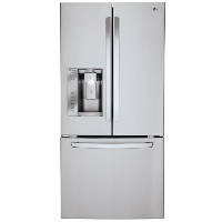 LG LFXS24623S 33 in. W 24.2 cu. ft. French Door Refrigerator in Stainless Steel - New w/Tiny Cosmetic Blemish