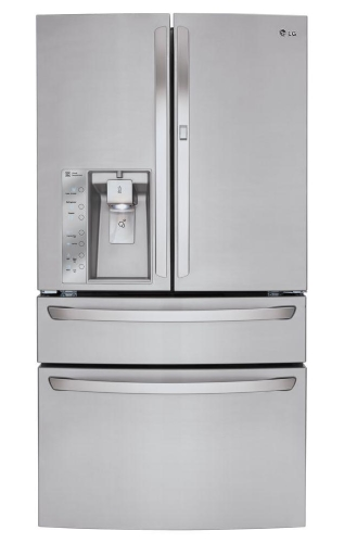 Ft LG LFXS30766S 36 French Door Refrigerator with 30 Cu Capacity in Stainless Steel