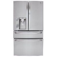 "LG LFXS30766S 36"" Energy Star French Door Refrigerator with 30 cu. ft. Capacity Smart Cooling - New w/Tiny Cosmetic Blemish"