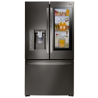 LG LFXS30796D 30 cu. ft. 3 Door French Door Smart Refrigerator with InstaView Door-in-Door and Wi-Fi Enabled - Black Stainless Steel - New w/Tiny Cosmetic Blemish
