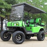 EZ-GO Lifted Lime Green 36 Volt Electric Golf Cart