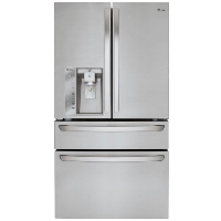 LG LMXC23746S 22.7 Cu. Ft. Counter-Depth 4-Door French Door Refrigerator with Thru-the-Door Ice and Water - Stainless steel - New w/Tiny Cosmetic Blemish