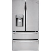LG LMXS27626S 27.8 cu. ft. French Door Smart Refrigerator with Wi-Fi Enabled - Stainless Steel - New w/Tiny Cosmetic Blemish